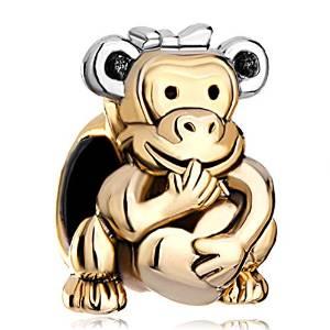 Pandora Joker Monkey Heart Charm