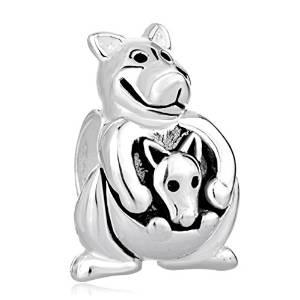 Pandora Kangaroo Carrying Baby Charm