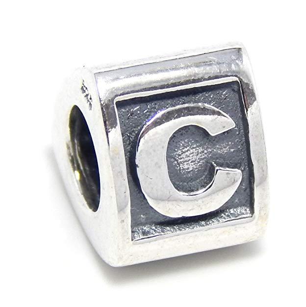 pandora letter c charm