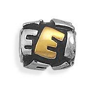 Pandora Letter E Two Tone Bead