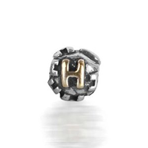 Pandora Letter H Engraved on Cubic Dice Charm