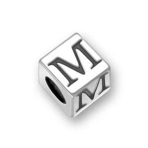 Pandora Letter M Dice Charm