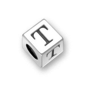 charm pandora lettre t