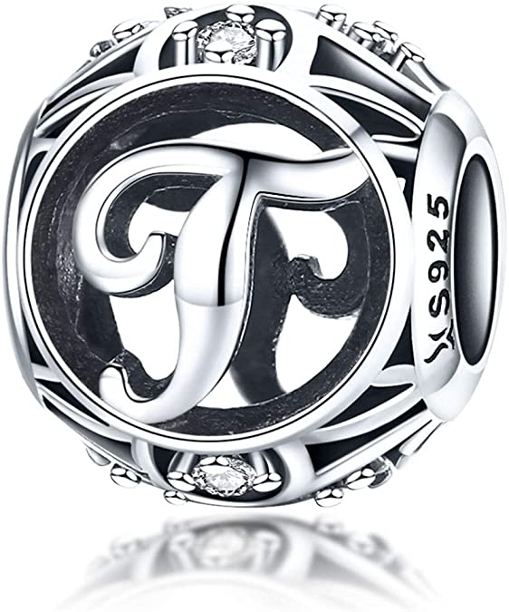 Pandora Letter T Engraved on Dice Charm