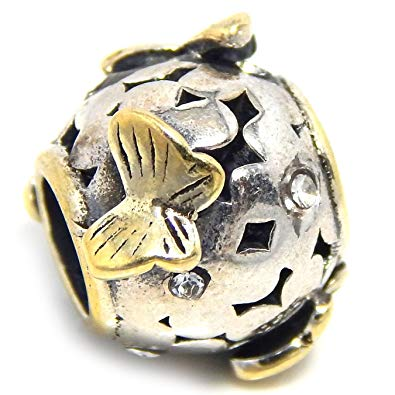 591125396 Pandora Little Butterfly 14K Gold Charm | Buy Top Rated Charms