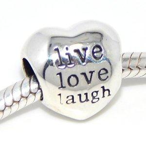 Pandora Live Love Laugh Heart Charm