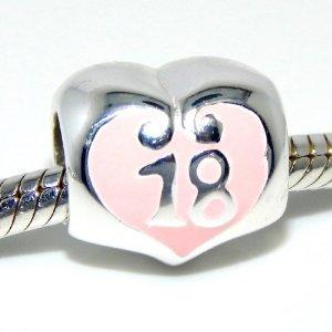 Pandora Live Love Life 18th Birthday Heart Charm
