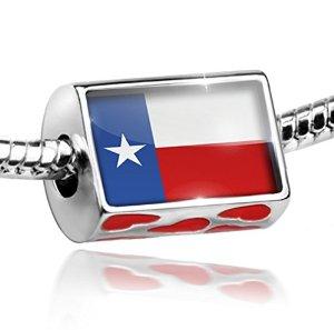 Pandora Lone Star Texas European Heart Charm