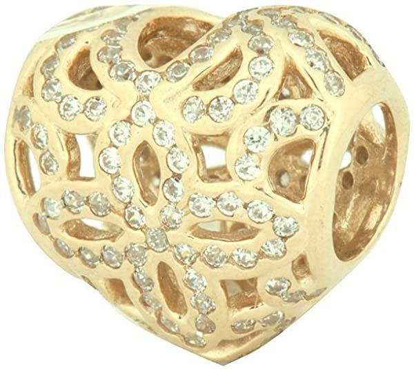 Pandora Love And Appreciation Gold CZ Charm