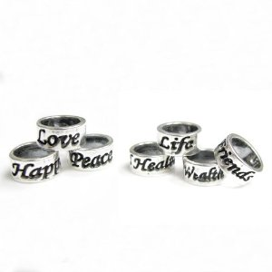Pandora Love Peace Happiness Health Wealth Friends Long Life Ring 7 Pieces Charm