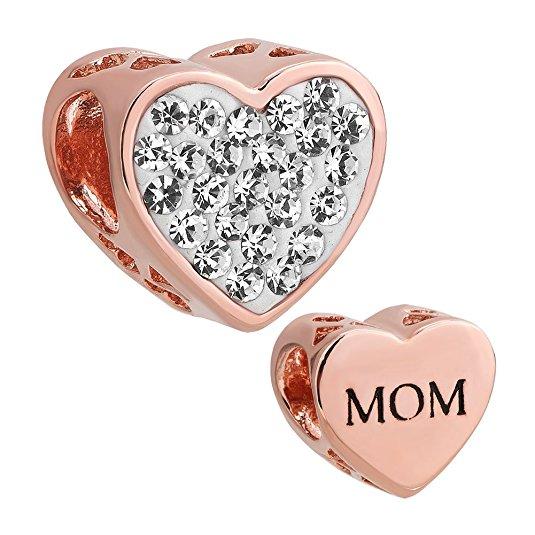 Pandora Love You Mom Rose Heart Charm