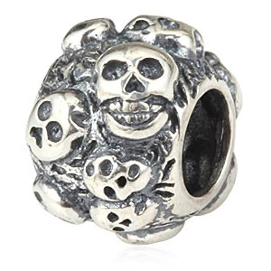Pandora Macabre Skull Charm