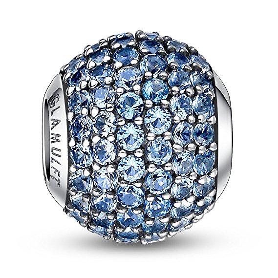 Pandora March Birthstone Aquamarine Light Blue Charm