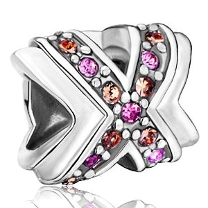 Pandora Medium Cross Crystal Dan Bead