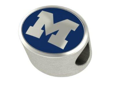 Pandora Michigan Wolverines College Collegiate Charm