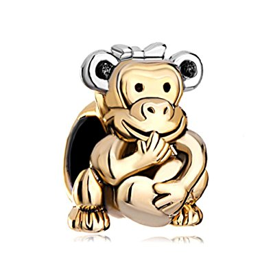 Pandora Monkeys Couple Charm