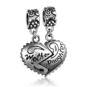 Pandora Mother Daughter Split Heart Lots of Love Charm