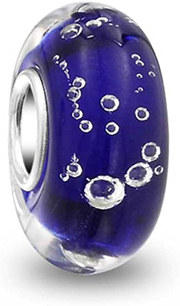 Pandora Murano Glass Blue Bubbles Charm