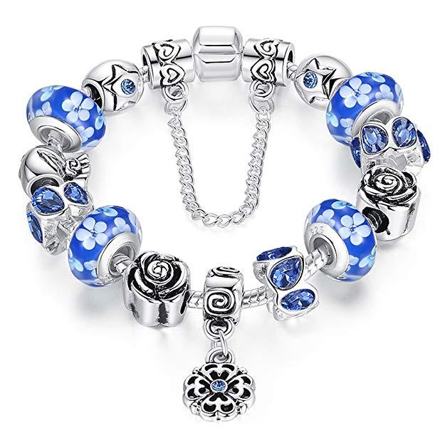 Pandora Murano Glass Charm Bracelet