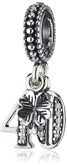 Pandora Number 40 Birthday Silver Bead