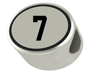 Pandora Number 7 Cylinder Bead