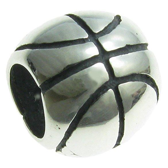 Pandora Orange Black Basketball Dangle Charm