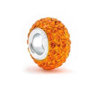 Pandora Orange Swarovski Halloween Charm