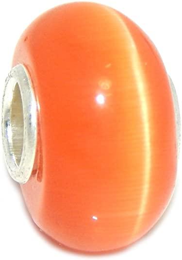 Pandora Orange Swirl Murano Glass Charm