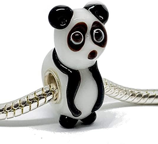 Pandora Panda 3D Lampwork Glass Bead