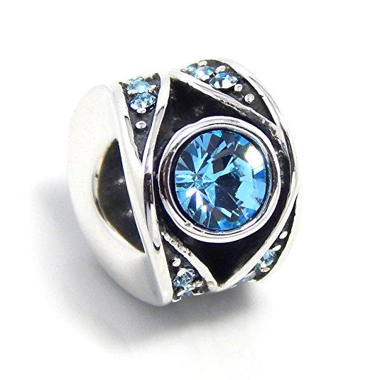 Pandora Pave Crystal Sapphire Rainbow Charm