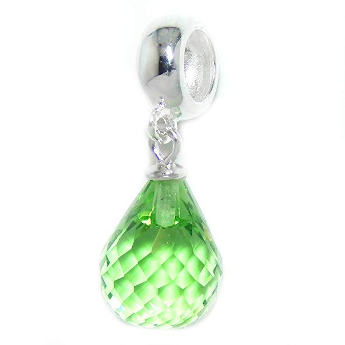 Pandora Peridot Color Glass Charm
