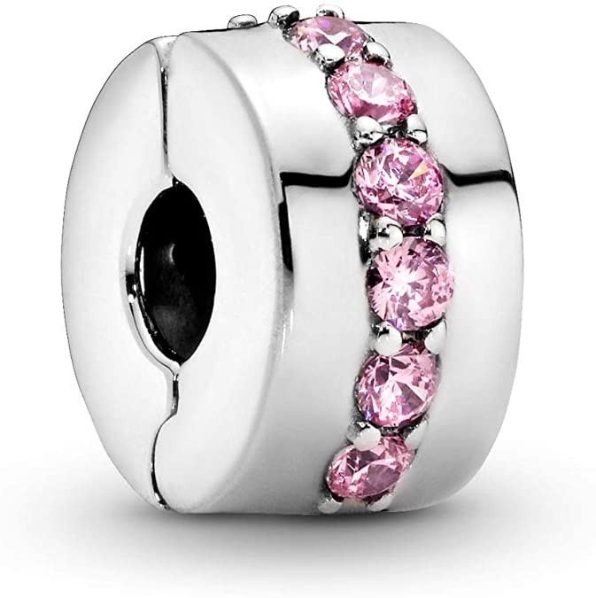 Pandora Pink Crystals Rounded Charm