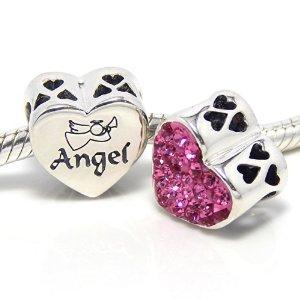 Pandora Pink Heart Angel Bead