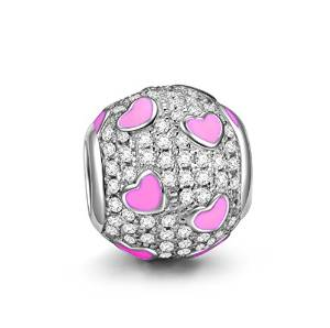 Pandora Pink Hearts Enamel Bead