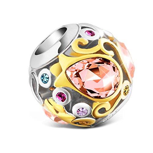 Pandora Pink Tulips Glass Charm