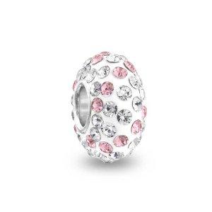 Pandora Pink and White Swarovski Crystal Charm