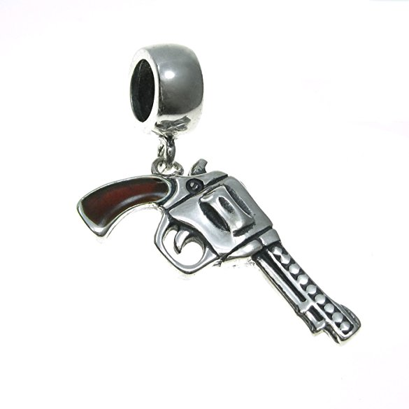 Pandora Pistol With Lobster Clasp Charm