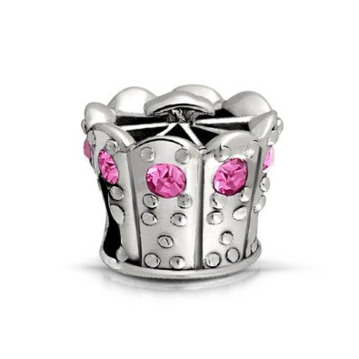 Pandora Princess Crown Charm With October Birthstone