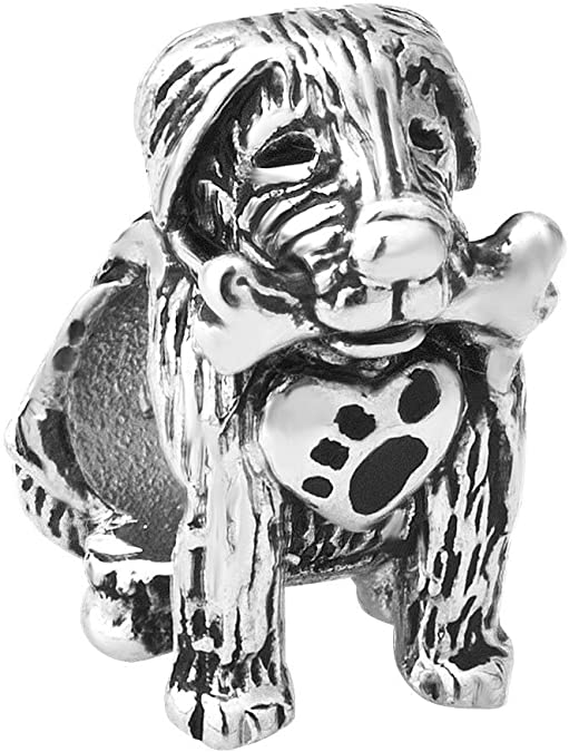 Pandora Pug With Bone Charm