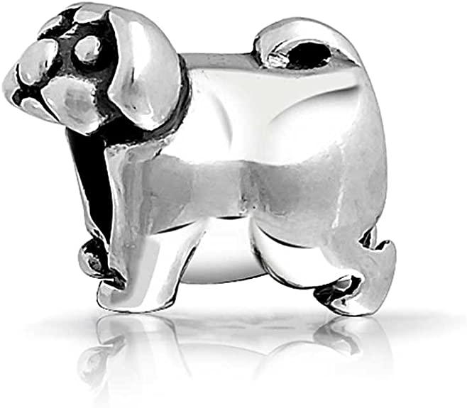 Pandora Puppy Pug Dog Charm