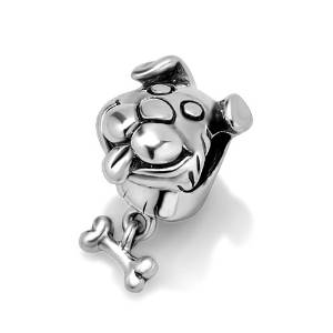 Pandora Puppy With Bone Charm
