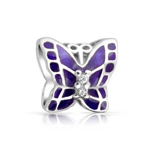 Pandora Purple Stones Antique Butterfly Charm
