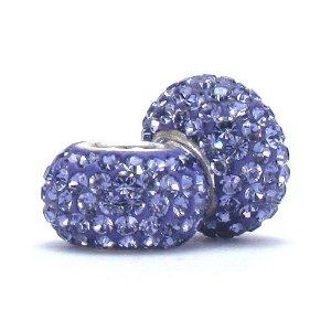 Pandora Purple Swarovski Crystal Bead