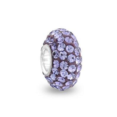 Pandora Purple Swarovski Crystals Bead Charm