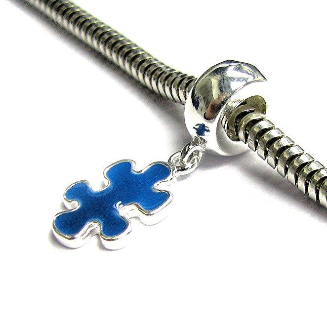 Pandora Puzzle Piece Blue Enamel Charm