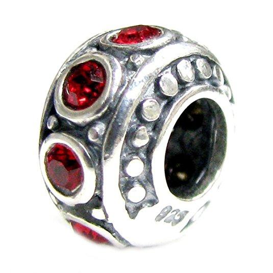 Pandora Red CZ July Birthstone Charm