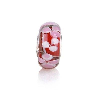 Pandora Red Clover Murano Glass Charm