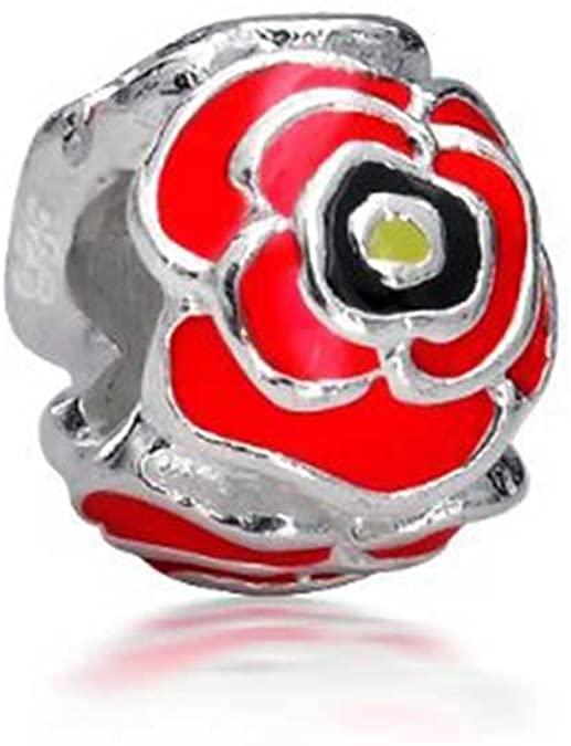 Pandora Red Flower Charm