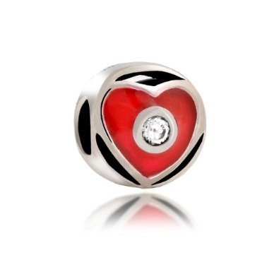 Pandora Red Heart Cut Out CZ Charm