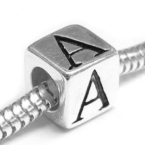 Pandora Red Letter A Barrel Charm